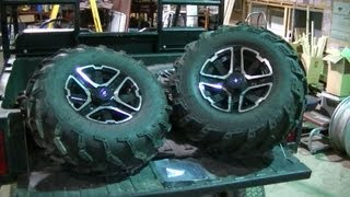 10. Polaris Ranger XP 900 Rims and Tire Install on Older Polaris Ranger 500 Series 10 (Part 1 of 2)