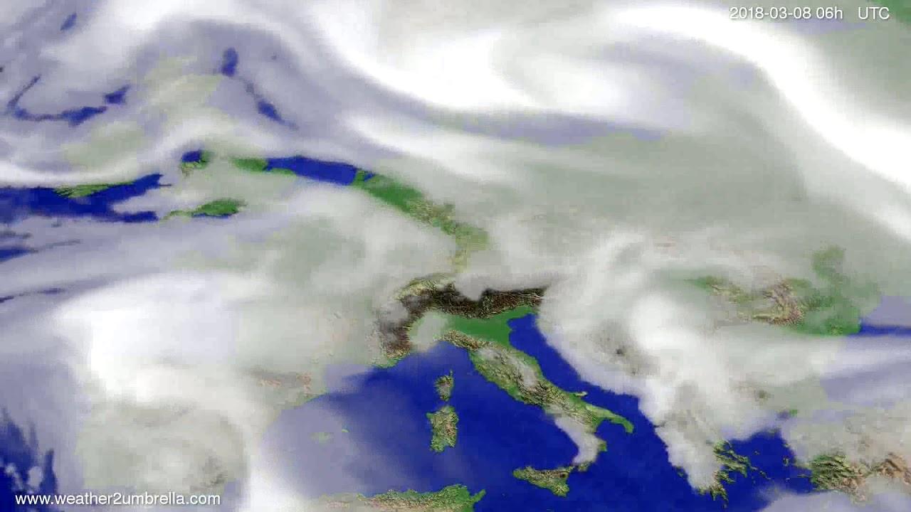Cloud forecast Europe 2018-03-05
