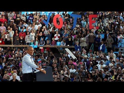 ΗΠΑ: Διαδηλωτές διέκοψαν προεκλογική ομιλία Ομπάμα υπέρ Κλίντον