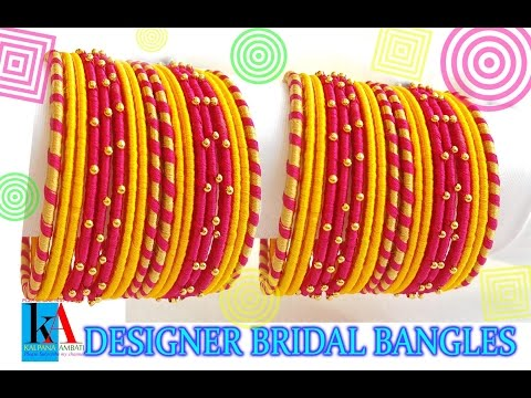 Video DIY Bridal Chuda: Make your own bridal chuda bangles at home  easy and simple download in MP3, 3GP, MP4, WEBM, AVI, FLV January 2017