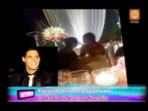 ¿Con quién 'ampayaron' a Facundo González en la boda de Natalie y Yaco?