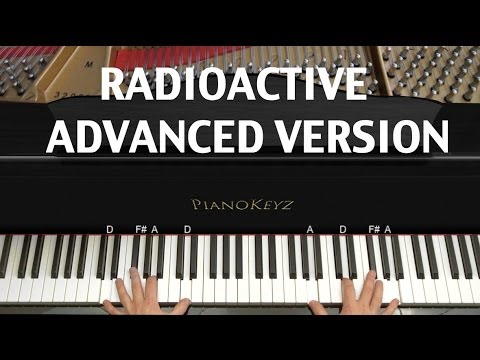 How to Play Radioactive by Imagine Dragons on Piano [HARD]