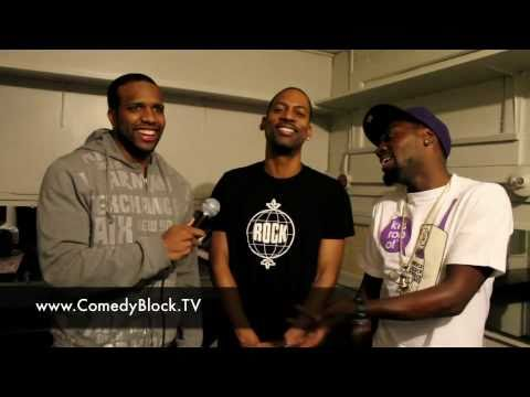 Tony Rock & Charlie Murphy Backstage wit Comedy Block Live