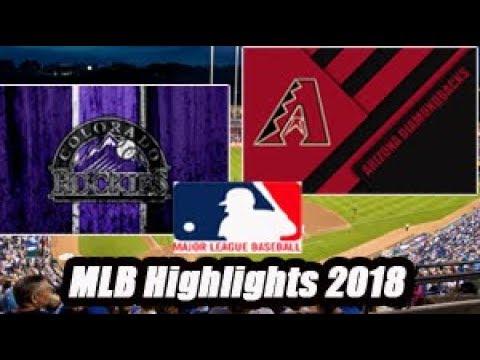 Colorado Rockies vs Arizona Diamondbacks - MLB Highlights 2018  - 12.07.