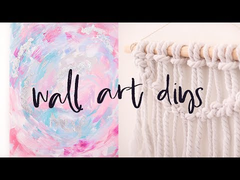 DIY Wall Art Pieces | Budget Gallery Wall Ideas, Home Decor for 2017