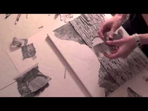 Landscape Art done with Newspaper