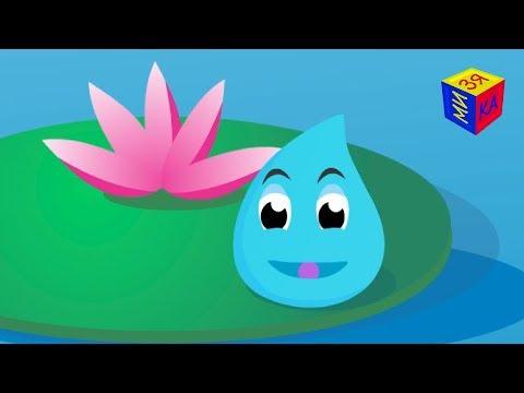 Развивающий мультик для детей. Круговорот воды в природе: путешествие Капельки (видео)