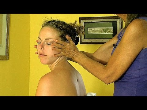Neck Massage How To Give Sitting Chair Techniques Relaxing ASMR Massage Athena Jezik
