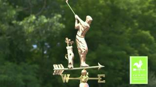 Golfer Weathervane - Polished Copper - Good Directions