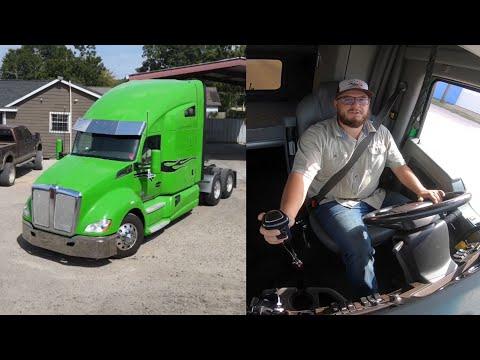 18 speed kenworth t680, custom semi truck tour and first drive
