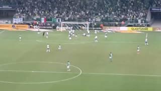 Começa a reação do Palmeiras no 2° tempo após levar 3X0 no 1° tempo.