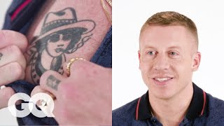 Video Macklemore Tells the Stories Behind His Favorite Tattoos | Tattoo Tour | GQ MP3, 3GP, MP4, WEBM, AVI, FLV Januari 2019