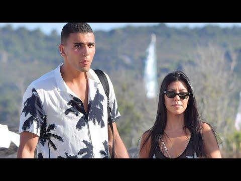 Kourtney Kardashian and New Man Younes Bendjima Continue Romantic Vacay in Coordinating Ensembles
