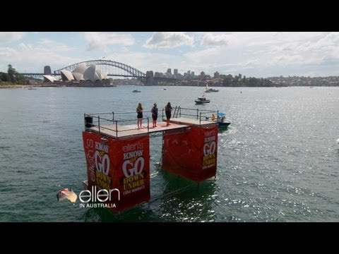 TheEllenShow - Everyone loves Ellen's game Know or Go, but how would her Sydney fans react to being dropped right into Sydney Harbour? Find out here!