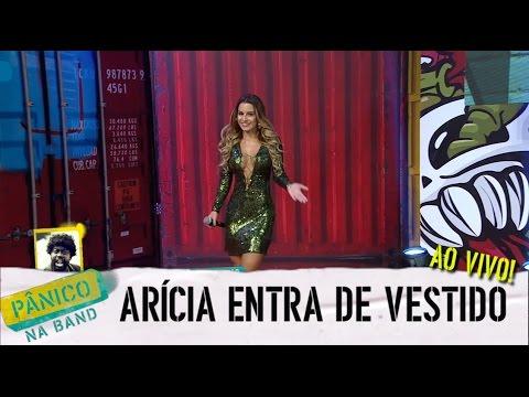 Pânico na Band - AO VIVO: ARÍCIA APARECE DE VESTIDO NO PALCO