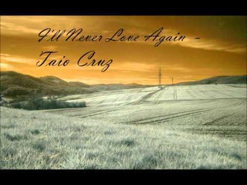 Tekst piosenki Taio Cruz - I'll never love again po polsku