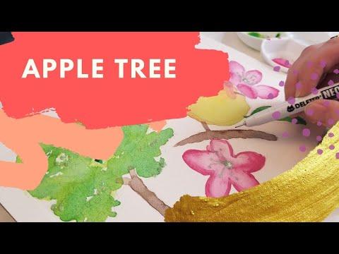 Illustrating Edibles   Episode 9: Apple Tree