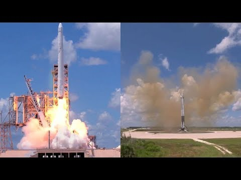SpaceX CRS-12: Falcon 9 launch & landing, 14 August 2017 (видео)
