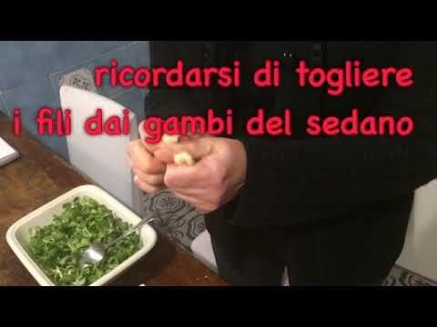 insalata tacchino e castagne .learning Italian by cooking Anna Maria on Italki