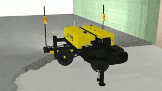 Niveladora de piso de concreto à laser