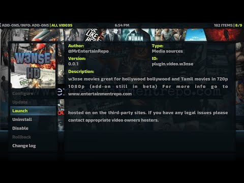 🌟 Install W3NSE Kodi Addon