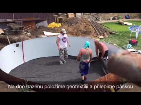 Stavba Bazénu od Mountfield (видео)