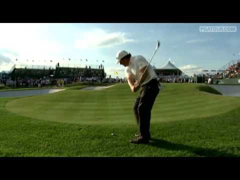 Phil Mickelson's amazing chip shot at the 2009 Barclays Tournament