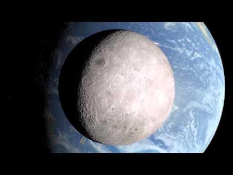 從背面看月球