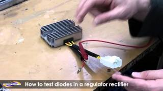 6. How to test a diode on a regulator rectifier using a multimeter