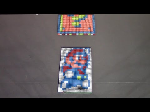 This StopMotion  Super Mario  Animation Made With Rubik s