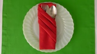 Napkin Folding - Fancy Pouch - YouTube