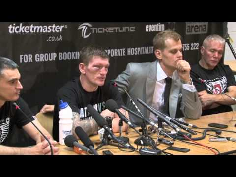 ricky hatton - RICKY HATTON CONFIRMS HIS RETIREMENT AT POST-FIGHT PRESS CONFERENCE / HATTON v SENCHENKO / iFILM LONDON.