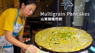 Video Oil-Free ! Egg and Miscellaneous Grain Pancakes Made by Miss Quick Hand / Huangpu Shanghai MP3, 3GP, MP4, WEBM, AVI, FLV September 2019