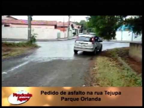 Vídeo Reclamação  Pedido de asfalto na rua Tejupa Parque Orlanda