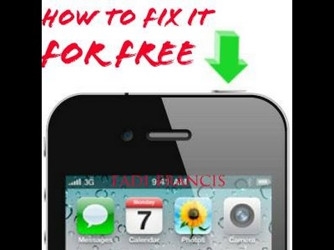 How to fix Iphone power button for FREE