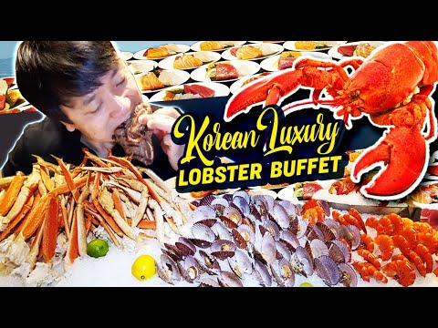 Korean LUXURY LOBSTER BUFFET! All You Can Eat SEAFOOD in Seoul South Korea
