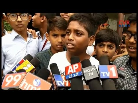 Students And Parents Protest At Dr KKR Gowtham School | Hyderabad | CVR NEWS