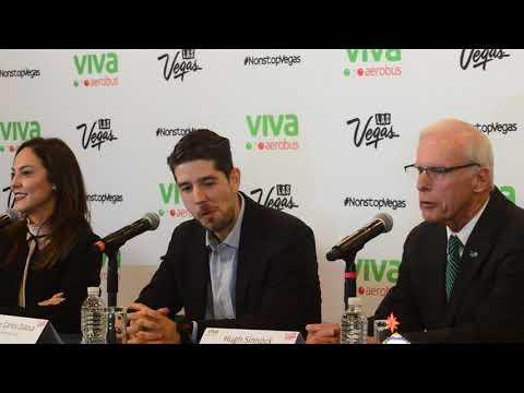 Juan Carlos Zuazua, CEO de Viva Aerobus, anuncia vuelto directo