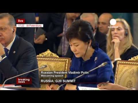 G 20 - Recorded live version of Vladimir Putin's welcoming speech at the G20 opening session in St Petersburg. Russia is hosting the summit of the leaders of the Gr...
