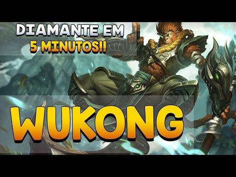 DIAMANTE EM 5 MINUTOS - League of Legends - WUKONG TOP LANE!!