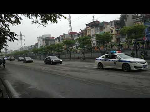 Đoàn xe của ông Kim Jong-Un chạy vào Hà Nội - Thời lượng: 31 giây.