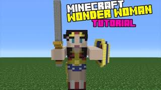 Minecraft Tutorial: How To Make A Wonder Woman Statue (Batman Vs Superman: Dawn Of Justice)