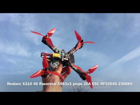 Flight Test with X210 and Racerstar 5051 props