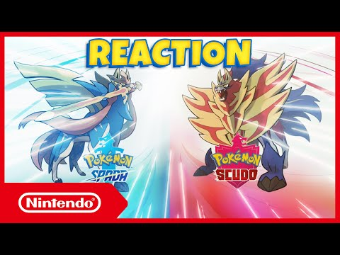 REACTION LEGGENDARI POKEMON SPADA E POKEMON SCUDO! Cosa ne pensate? ⚔️🛡️ Nintendo Switch Ita