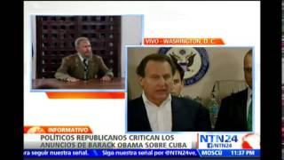 Congresistas republicanos lanzan fuertes críticas a Obama tras restablecer relaciones con Cuba
