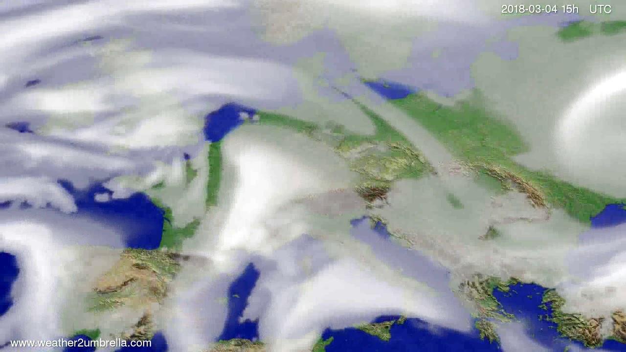 Cloud forecast Europe 2018-03-02