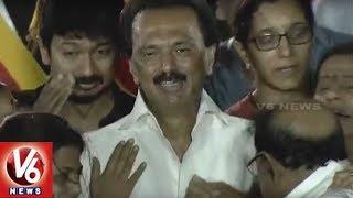 Video DMK Chief Karunanidhi Buried At Chennai's Marina Beach | V6 News MP3, 3GP, MP4, WEBM, AVI, FLV Maret 2019