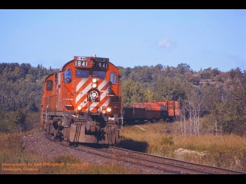 RS18 - We are on the CP Rails Webbwood sub as we catch two MLW (Alco) RS18's. CP 1841 - 1838 are east near Echo Bay in the first clip. The second clip is at mp166, ...