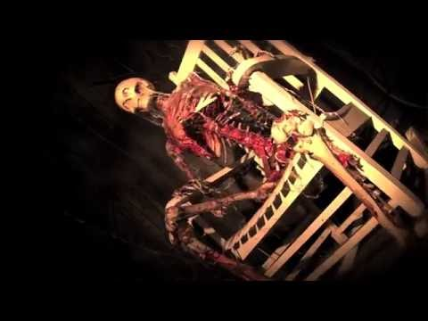 Halloween Skeleton Prop in Rocking Chair, He Talks!