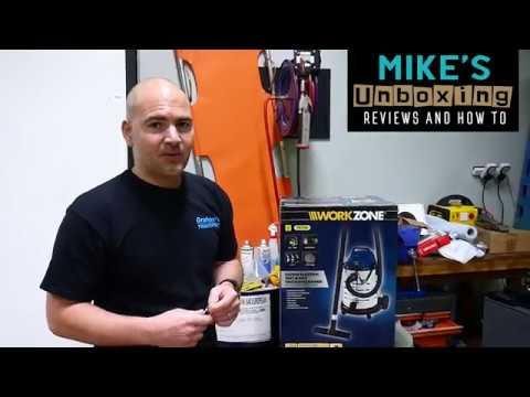 Aldi Work Zone 1500w Wet & Dry Workshop Auto Vacuum Unboxing
